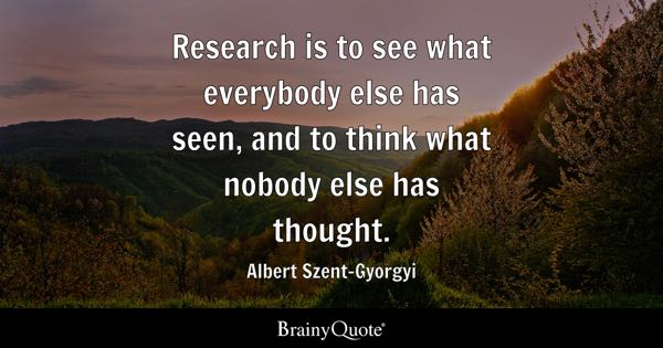 Quotes On Research Classy Research Quotes  Brainyquote