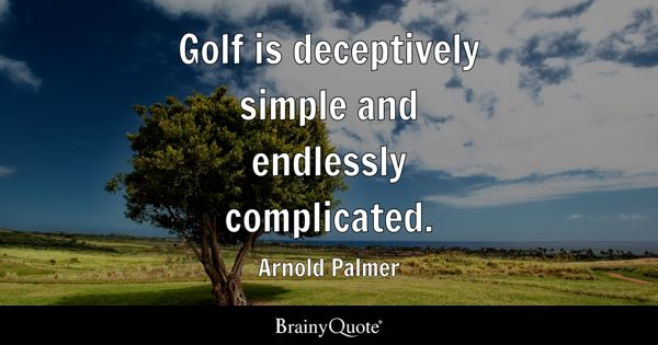 Quotes About Golf Simple Golf Quotes  Brainyquote
