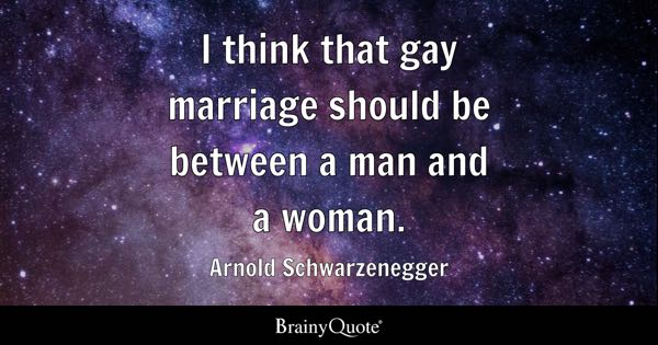 from Maximo gay marriage between a man and a woman