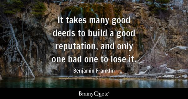 Reputation Quotes Brainyquote