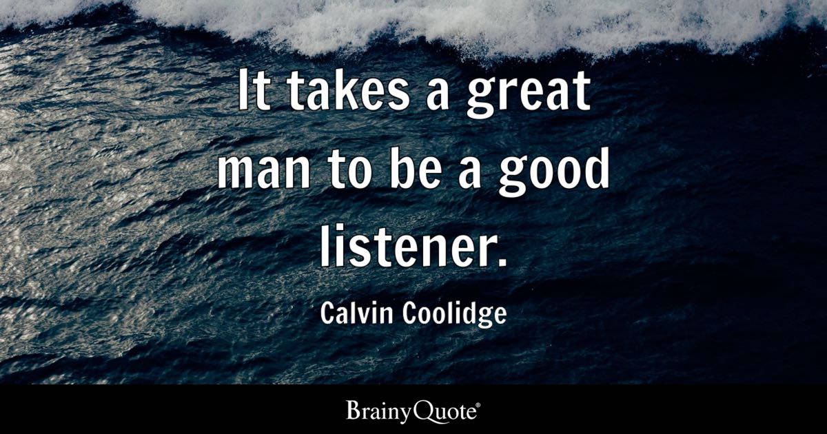 Calvin Coolidge It Takes A Great Man To Be A Good