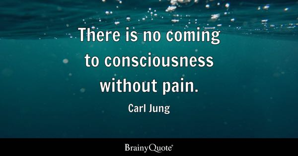 There Is No Coming To Consciousness Without Pain