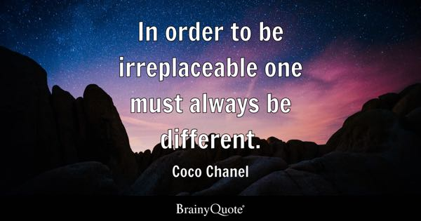 Be Different Quotes Brainyquote