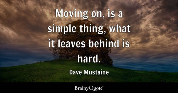 Leaving On And About Quotes Moving