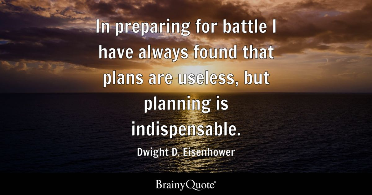 Dwight D Eisenhower In Preparing For Battle I Have