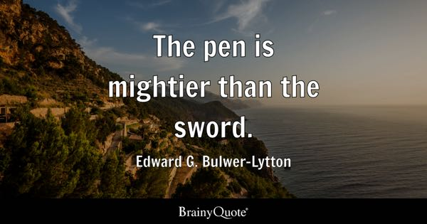 Pen Quotes Brainyquote