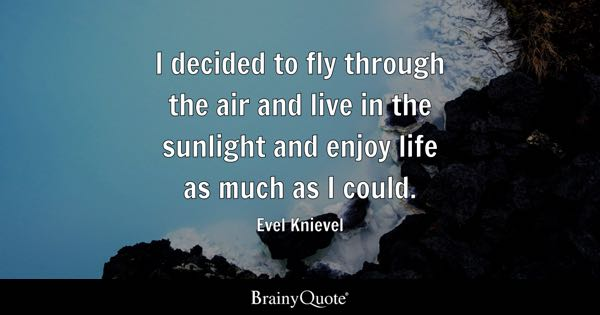 I Decided To Fly Through The Air And Live In The Sunlight And Enjoy Life As