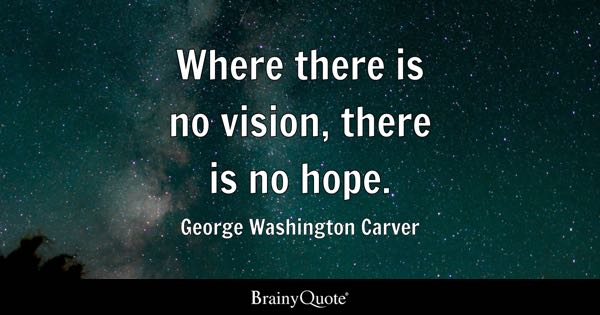 Image of: Thoughts Where There Is No Vision There Is No Hope George Washington Carver Brainy Quote Vision Quotes Brainyquote