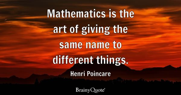 Mathematics Quotes Brainyquote