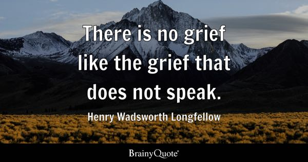 Grief Quotes BrainyQuote Adorable Grieving Quotes