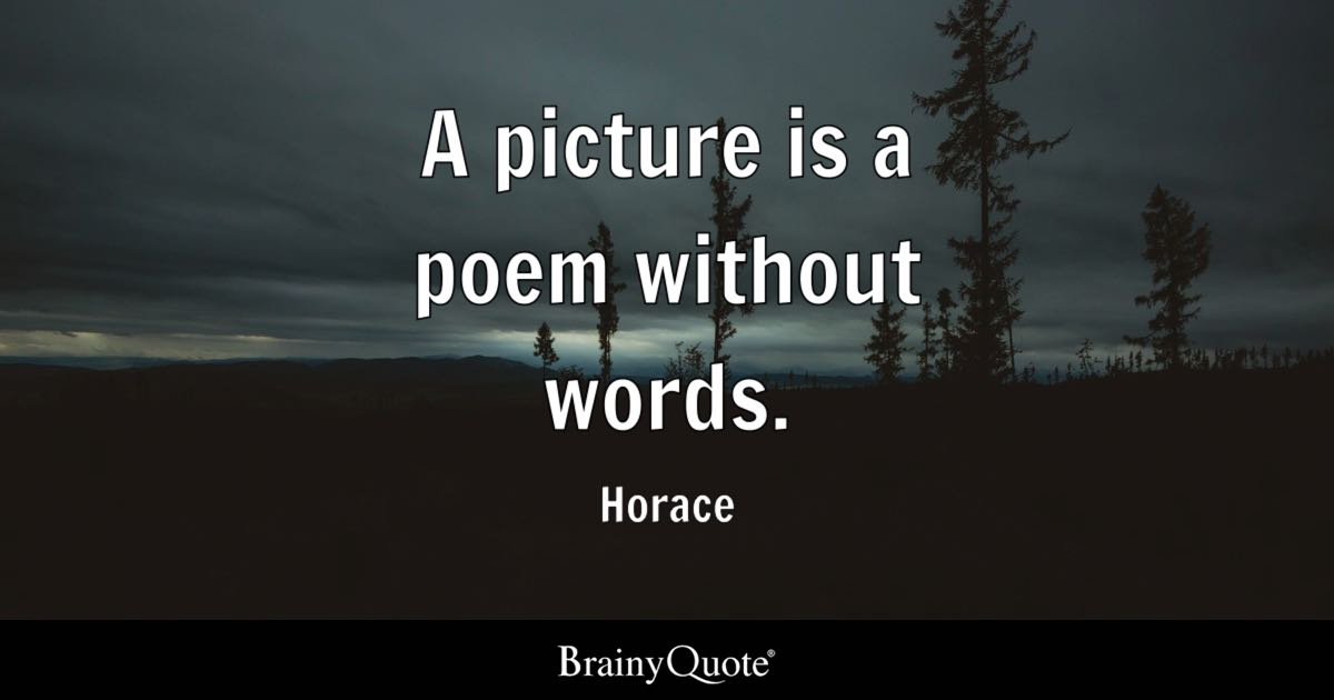 Horace A Picture Is A Poem Without Words