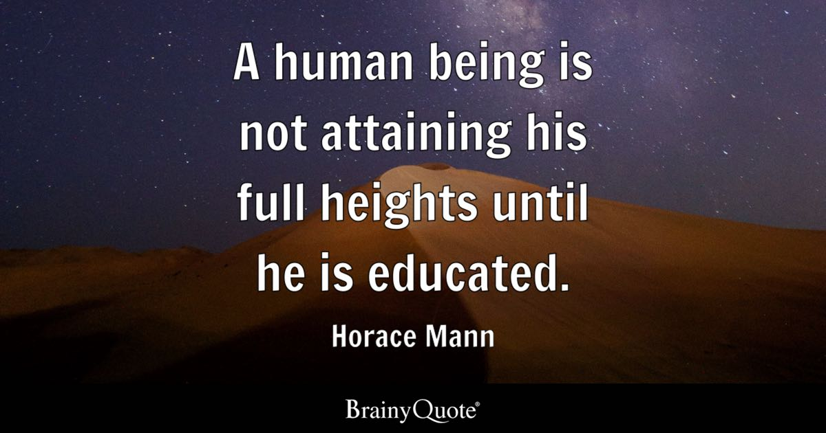 Horace Mann Quotes Mesmerizing Horace Mann Quotes BrainyQuote