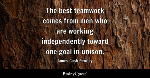 Teamwork Quotes BrainyQuote Mesmerizing Teamwork Motivational Quotes