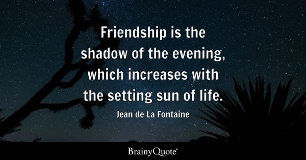 Famous Quote About Friendship Prepossessing Friendship Quotes  Brainyquote