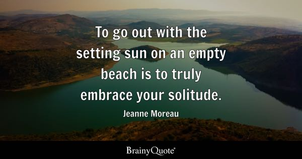 Quotes On Solitude Simple Solitude Quotes  Brainyquote