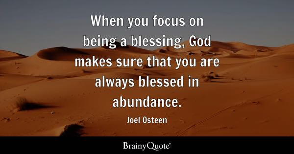 Blessing Quotes Brainyquote