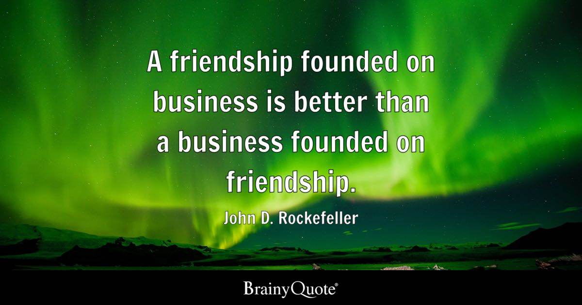 John D Rockefeller A Friendship Founded On Business Is