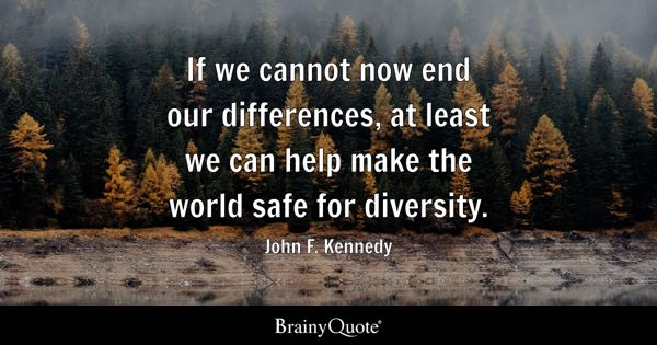 Quotes On Diversity Custom Diversity Quotes  Brainyquote