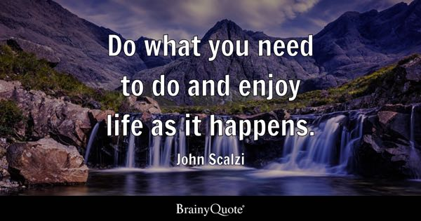 Do What You Need To Do And Enjoy Life As It Happens John Scalzi