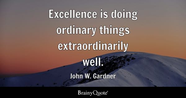 Excellence Quotes BrainyQuote Beauteous Excellence Quotes