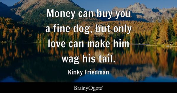 Kinky Friedman Quotes Money Can Buy You A Fine Dog