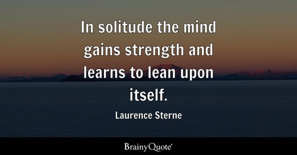 Quotes On Solitude Pleasing Solitude Quotes  Brainyquote