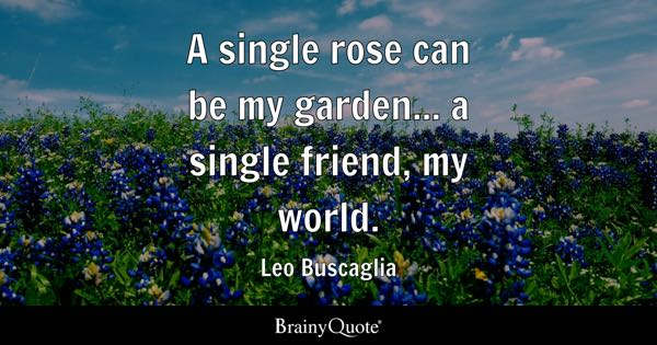 A Single Rose Can Be My Garden... A Single Friend, My World