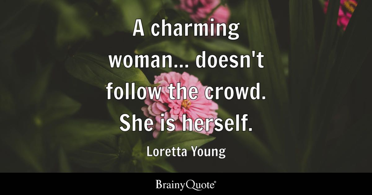 Loretta Young A Charming Woman Doesnt Follow The Crowd