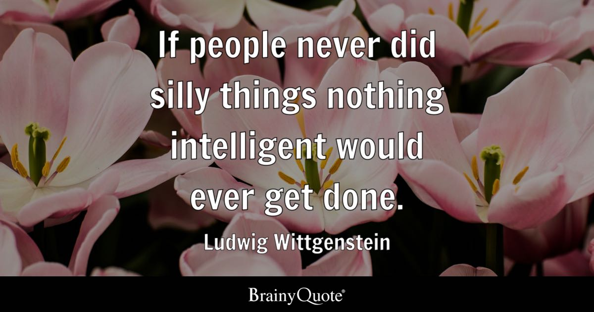Silly People Quotes: If People Never Did Silly Things