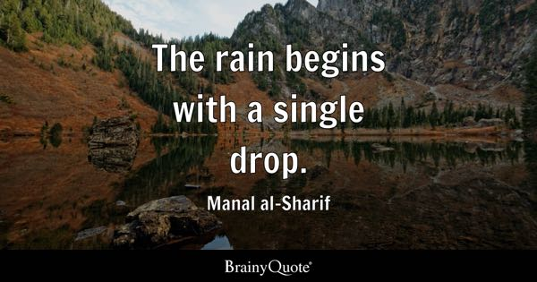 The Rain Begins With A Single Drop.   Manal Al Sharif