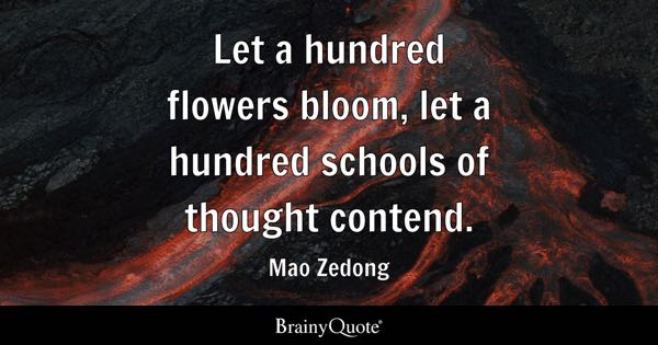 let a hundred flowers bloom let a hundred schools of thought contend mao