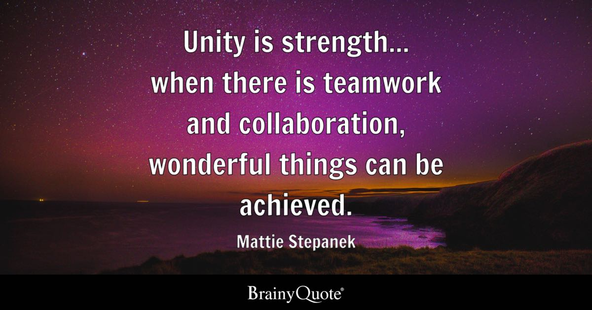 Mattie Stepanek Unity Is Strength When There Is