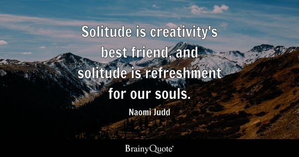 Quotes On Solitude Inspiration Solitude Quotes  Brainyquote