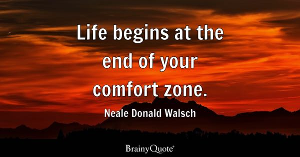 Comfort Zone Quotes Brainyquote