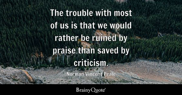 Norman Vincent Peale The Trouble With Most Of Us Is That