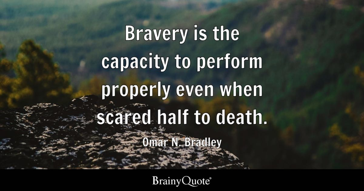 omar n bradley bravery is the capacity to perform