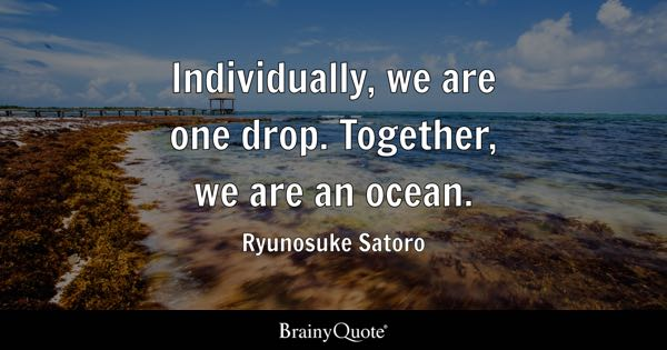 Together, We Are An Ocean.   Ryunosuke