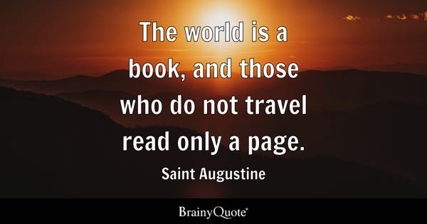 Book quotes brainyquote the world is a book and those who do not travel read only a page solutioingenieria