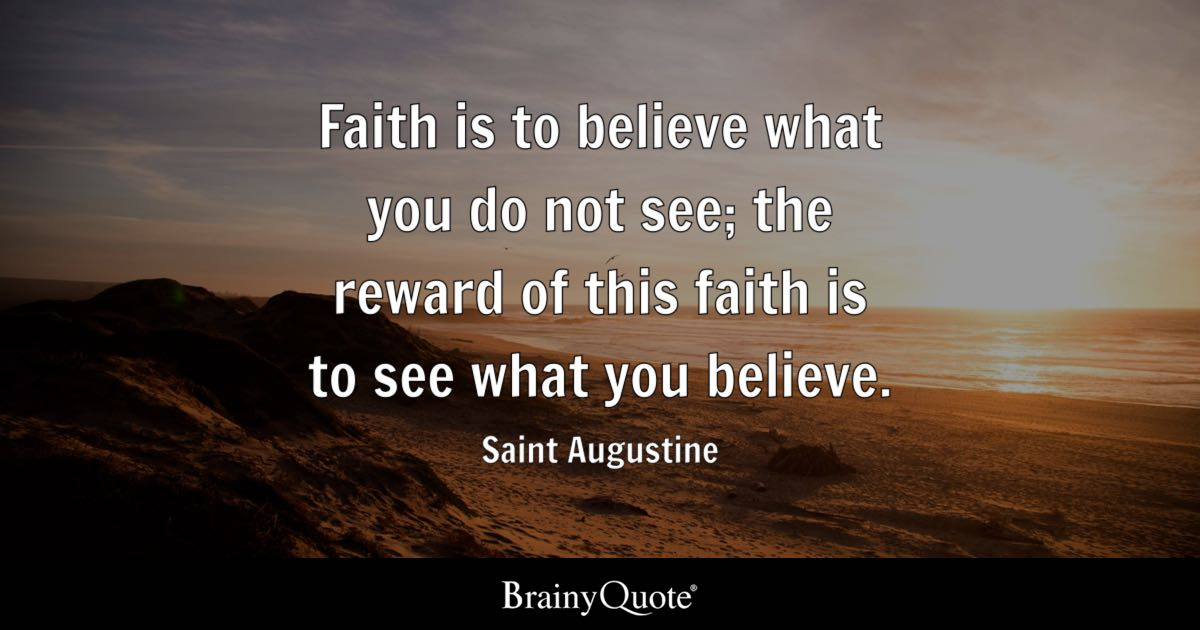 augustine and his thoughts on god Augustine wrote much about the relationship between god's activity and  on  the one hand, from any exercise of our reason thinking about the world, we come.