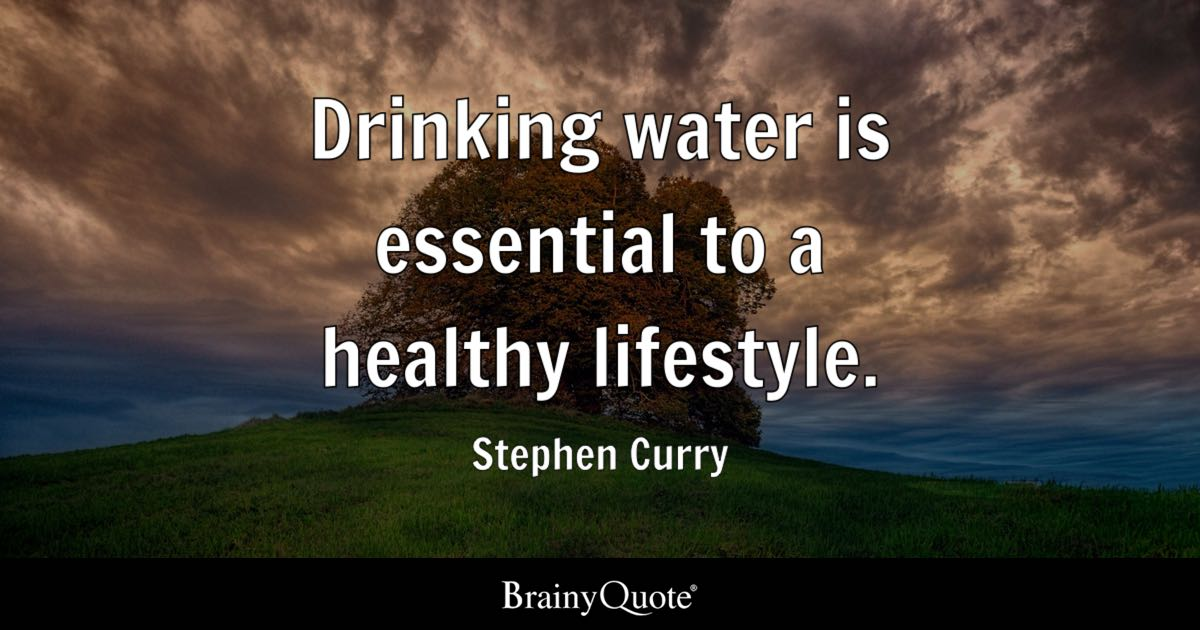stephen curry drinking water is essential to a healthy. Black Bedroom Furniture Sets. Home Design Ideas