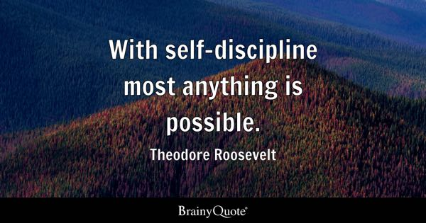 Self Discipline Quotes Brainyquote