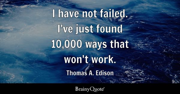 Thomas A Edison Quotes BrainyQuote Awesome Thomas Edison Quotes