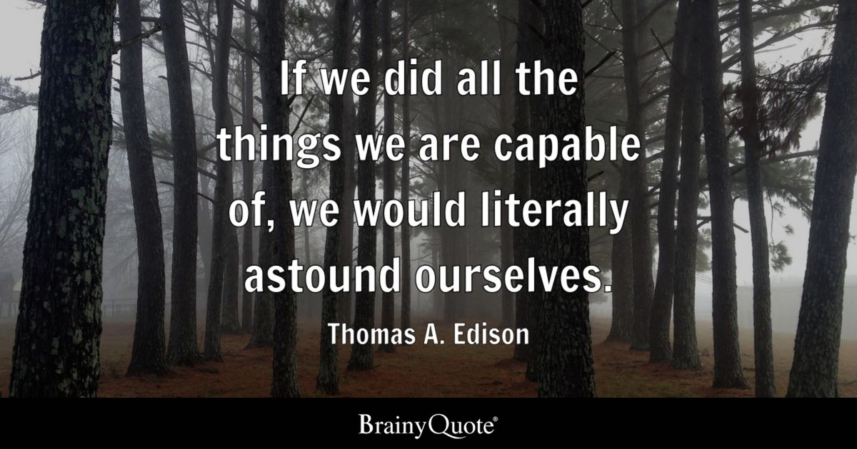 Thomas A Edison Quotes BrainyQuote Inspiration Thomas Edison Quotes