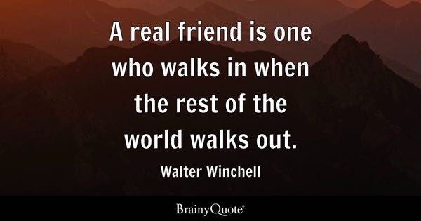 A Quote About Friendship Unique Friendship Quotes  Brainyquote
