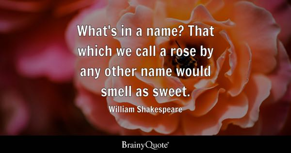 Name Quotes Brainyquote