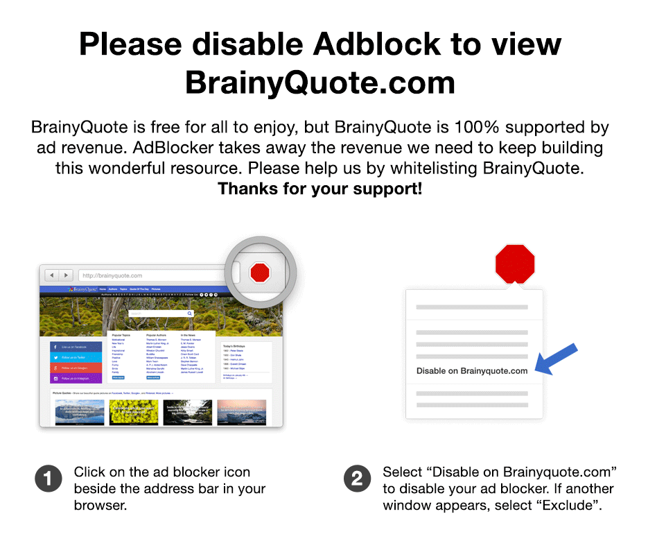 english language quotes  brainyquote please disable your ad blocker